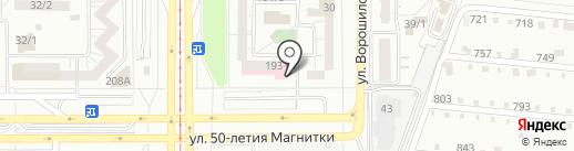 Реабилитационный центр для людей с ограниченными возможностями здоровья, МУ на карте Магнитогорска