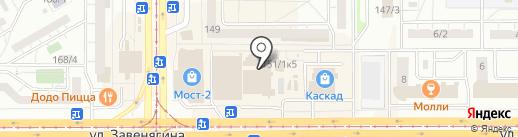 Магазин бижутерии и головных уборов на карте Магнитогорска