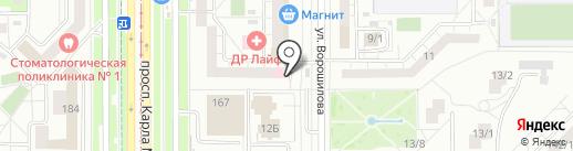 Цезарь на карте Магнитогорска