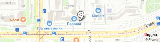 Сеть магазинов упаковки на карте Магнитогорска