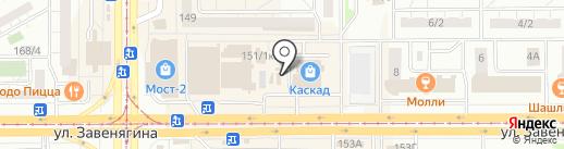 Магазин по продаже чая и кофе на карте Магнитогорска
