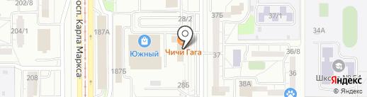 Остров счастья на карте Магнитогорска