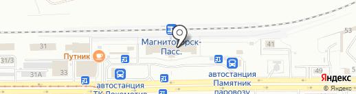 Троицкая книга, АНО на карте Магнитогорска
