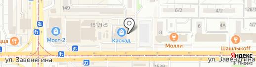 Феникс, ЗАО на карте Магнитогорска