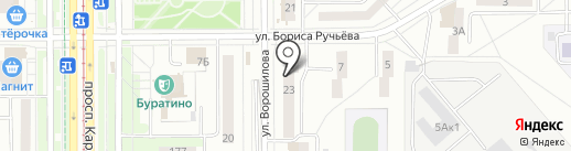 Братец Лис на карте Магнитогорска