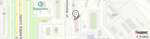 Сеть магазинов верхней одежды на карте Магнитогорска