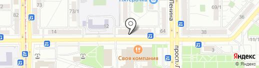 Шеле на карте Магнитогорска