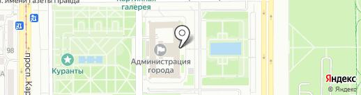 ЦЕНТР, ЗАО на карте Магнитогорска