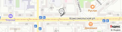 Дива на карте Магнитогорска