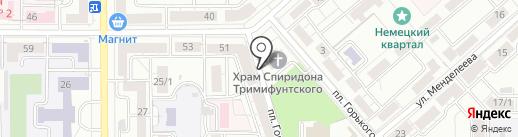 Автоша на карте Магнитогорска