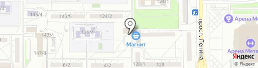 Спортивная школа выживания на карте Магнитогорска