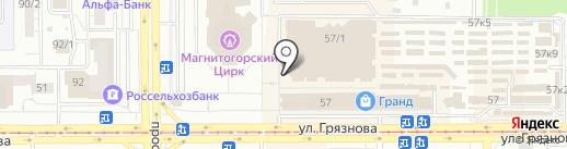Ликвидатор на карте Магнитогорска
