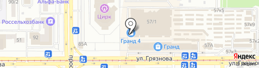 Магазин женской обуви на карте Магнитогорска