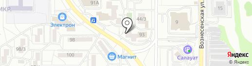 Уголовно-исполнительная инспекция Правобережного района на карте Магнитогорска