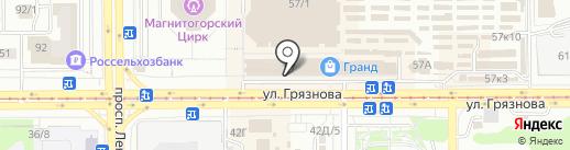 Магазин верхней одежды на карте Магнитогорска