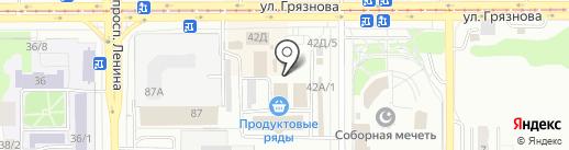 Магазин бытовой химии на карте Магнитогорска
