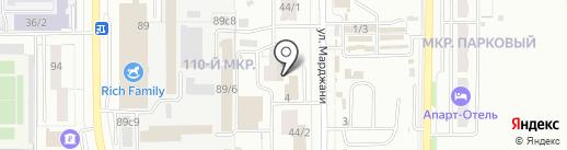 МОБИС на карте Магнитогорска