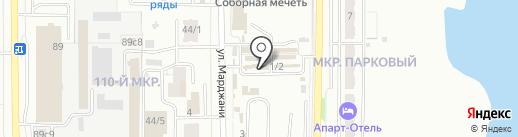 Аккорд на карте Магнитогорска