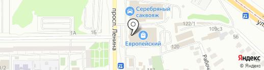 Табакерка на карте Магнитогорска