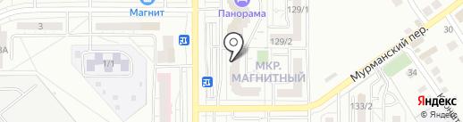 Плутон на карте Магнитогорска