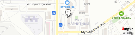 Магазин спецодежды на карте Магнитогорска