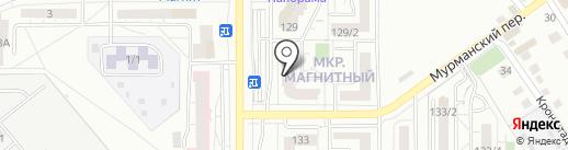 Магазин авточехлов на карте Магнитогорска