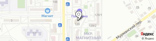 Магазин канцелярских товаров и игрушек на карте Магнитогорска