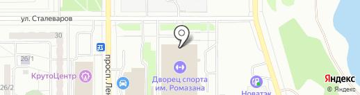 Школа тенниса Виталия Новикова на карте Магнитогорска