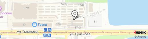 Магазин штор и карнизов на карте Магнитогорска