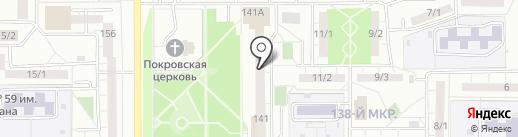 Бретелька на карте Магнитогорска