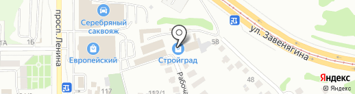 Мега-торг на карте Магнитогорска