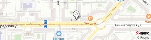 Прожектор на карте Магнитогорска