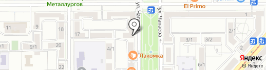 Полистрой на карте Магнитогорска