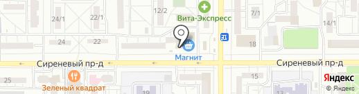 Магазин по продаже морепродуктов на карте Магнитогорска