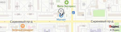 Магазин мяса птицы и полуфабрикатов на карте Магнитогорска