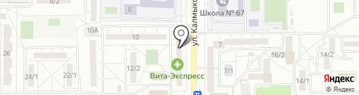 Матильда на карте Магнитогорска