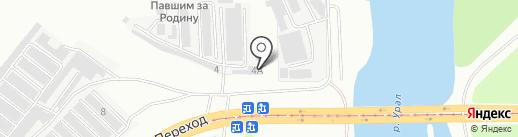 Нива-Сервис на карте Магнитогорска