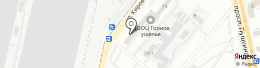 Абзаково на карте Магнитогорска