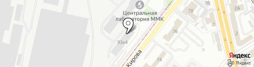 Научно-техническая библиотека на карте Магнитогорска