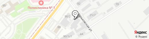 Машиностроительный комплекс Пром Урал на карте Магнитогорска