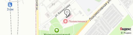 Узловая больница на ст. Карталы на карте Магнитогорска