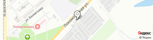 Шиномонтажная мастерская на карте Магнитогорска