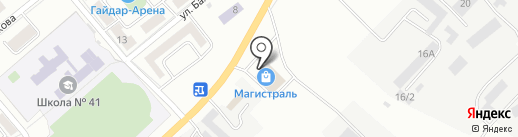Магистраль на карте Магнитогорска