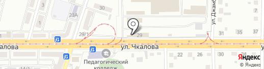 Маггортранс, МП на карте Магнитогорска