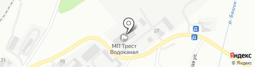 Водоканал, МП на карте Магнитогорска