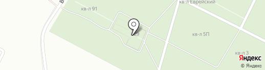 Левобережное кладбище на карте Магнитогорска