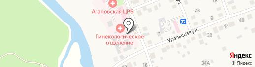 Агаповская центральная районная больница на карте Агаповки