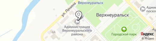 Верхнеуральская телерадиостудия на карте Верхнеуральска