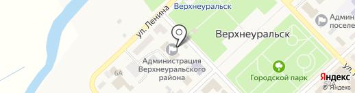 Верхнеуральская телерадиостудия, МАУ на карте Верхнеуральска
