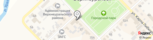 Цокотуха на карте Верхнеуральска